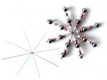 Christmas Wire Star / Snowflake for Beading DIY Ø10 cm
