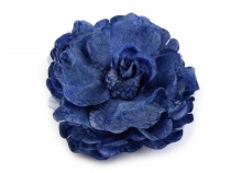 Fabric Rose Brooch Ø8 cm