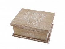 Wedding Wooden Box with Lid 11x14 cm