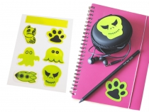 Reflective Sticker Set 7 pcs - Cat, Paw, Ghost, Skull, Halloween