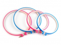 Plastic Embroidery Hoops Ø14.5 cm, 18 cm