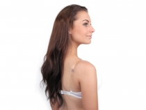 Invisible Clear Bra Shoulder Straps Replacement width 15 mm