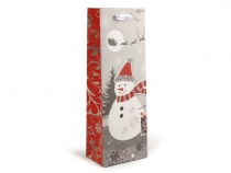 Wine Gift Bag Christmas 13x36 cm