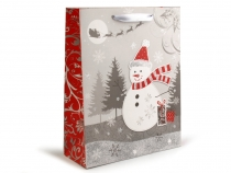 Gift Bag with Glitters 26x32 cm Christmas