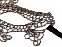 Carnival Eye Lace Mask with Lurex 2nd Quality