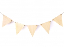 DIY / Wooden Pennants Banner - unfinished 5 pcs