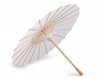 Natural White Paper Parasol, Bamboo Handle Ø38.5 cm