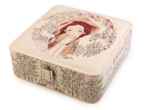 Jewellery Box with Printing 6.5x18x18 cm