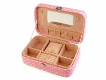 Jewellery Box with Poka Dots 7x14.5x22 cm