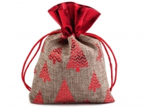 Christmas Gift Bag 13x18 cm Imitation of Burlap