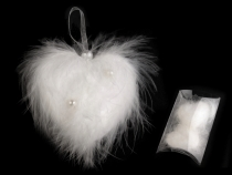 Feather Heart with Beads