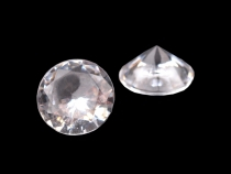 Color Acrylic Diamond shape Decorative Gems Ø10 mm