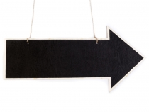 Arrow Chalkboard With Twine For Hanging