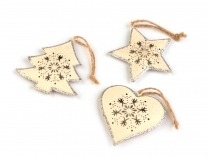Metal Hanging Decoration - Heart, Tree, Star