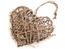 Wicker Heart 19x20 cm