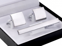 Cufflinks and Tie Clip Gift Set