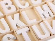 Wood Letters in a Box - white