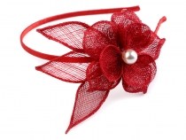 Fascinator / Headband with Flower and Bead