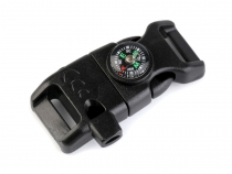 Side Release Buckle with Whistle and Compass width 15 mm