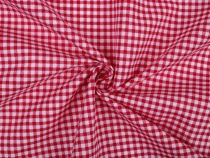 Red Gingham Check Fabric PES