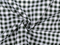 Black Gingham Check Fabric PES