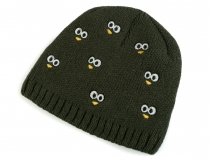 Kids beanie hat with embroidered eyes