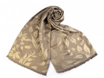 Scarf / Shawl with Leaves 70x175 cm