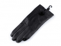 Ladies Leather Gloves with Fur