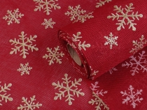 Christmas Jute Imitation width 48 cm with Glitter 2nd quality