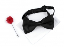 Set - Bow Tie, Handkerchief, Deco Pin