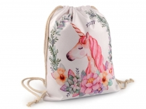 Drawstring Bag Unicorn 32x42 cm