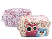 Cosmetic Bag Paisley, Owls 10.5x18 cm