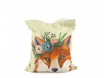 Small Tote Bag fox, raccoon, unicorn 21x25 cm