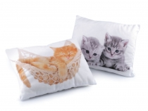 Throw Pillow / Cushion with Filling - Cat, Dog 30x40 cm