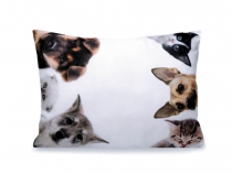 Throw Pillow / Cushion with Filling - Dog, Cat 30x40 cm