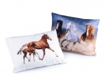 Throw Pillow / Cushion with Filling - Horse 30x40 cm