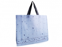 Shopping Tote Flowers 34x41 cm, washable