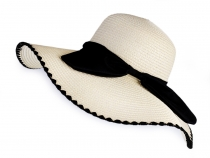 Ladies Summer Hat / Straw Hat with Bow
