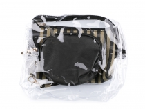 Cosmetic Bag Set of 3pcs, transparent and metallic