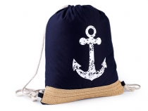 Drawstring Bag Anchor 31x41 cm