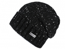 Ladies Winter Hat with Sequins Capu