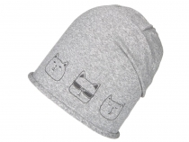 Girls Cotton Hat Cat