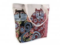 Linen Bag Owl, Cat, Fox 43x44 cm 2nd quality