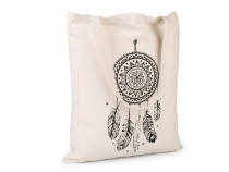 Cotton Canvas Bag, Dreamcatcher Motif 34x39 cm