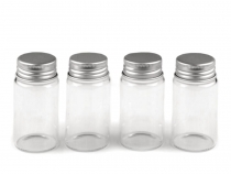 Mini Glass Bottle with Screw Lid 37x70 mm