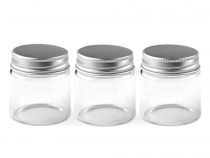 Glass Jar / Bottle with Screw Lid 47x50 mm