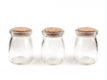 Glass Vial Bottle with Cork 57x75 mm