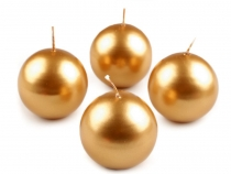 Metallic Ball Candles