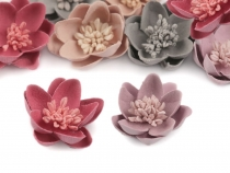 Deco Clothing Flower Applique with Pistils / Stamen Ø30 mm