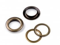 Eyelets / Grommets with Washer Ø17 mm for leather